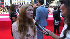 Josephine De La Baume at the London premiere of the film Rush - stock footage