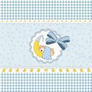 baby shower card - stock illustration