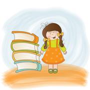 Clever girl Stock Illustration