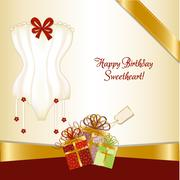 bridal shower greeting card - stock illustration