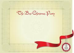 christmas party certificate - stock illustration