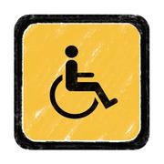 cripple sign - stock illustration