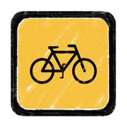 bicycle sign - stock illustration