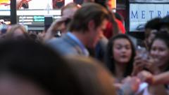 Chris Hemsworth on the red carpet at the London Premiere of Rush. Stock Footage
