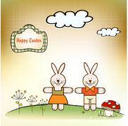 Easter greetings card Stock Illustration