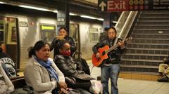 Subway Musicians Stock Footage