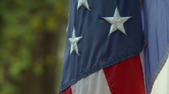 American flag draped close up Stock Footage