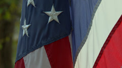 American flag backlit Stock Footage