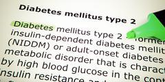 Diabetes mellitus type 2 Stock Photos