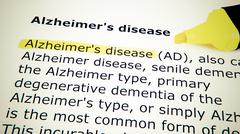 alzheimer's disease - stock photo