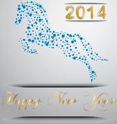 Stock Illustration of year of the horse