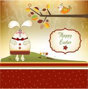easter bunny - stock illustration