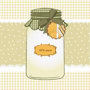 pure biological food jar - stock illustration