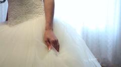 Wedding dress Stock Footage