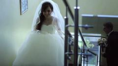 bride runs away - stock footage