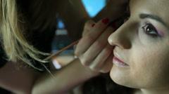 Makeup 1 Stock Footage