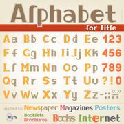 Alphabet for title Stock Illustration