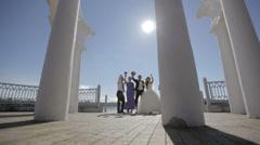 Wedding dancing Stock Footage