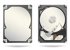 Hard drive Stock Illustration