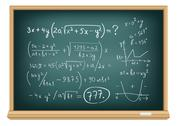 Board difficult equations Stock Illustration