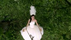 The bride on a swing Stock Footage