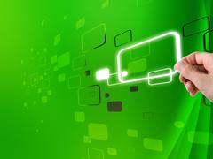 Green digital background Stock Illustration