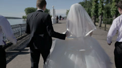 wedding walk - stock footage