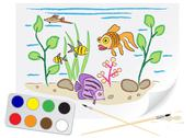 Stock Illustration of drawing aquarium