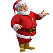 3d cartoon santa - stock illustration