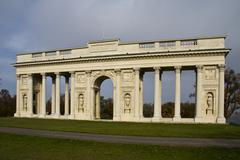 Neoclassical architecture - Collonade in Valtice, Czech Republic Stock Photos