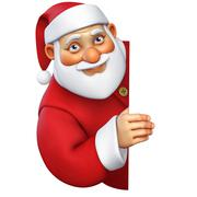 3d cartoon santa Stock Illustration