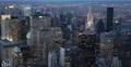 Ultra HD 4K Dusk Light Aerial View New York City Downtown Skyline Center Evening Footage