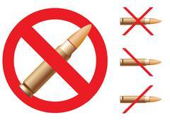 Stop terror - stock illustration