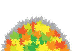 Heap from maple leaves Stock Illustration