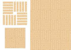 Wooden floor Stock Illustration