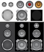 Speaker basic Stock Illustration