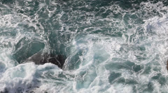 Waves, Lands End - stock footage