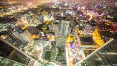 4k resolution Prores422 HQ, Beijing City night time lapse Stock Footage