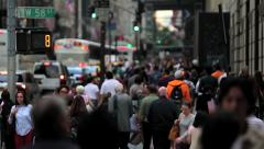 Bobbing Heads in New York City - stock footage