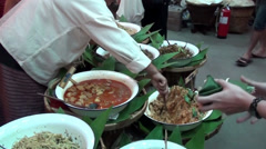 Thai Food 16 - Traditional foods and dishes Stock Footage