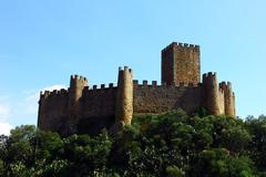 Castle of almourol, portugal Stock Photos