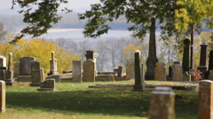 Civil War Cemetery on the Mississippi - stock footage