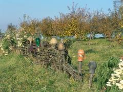 Country Ukrainian old fence - stock photo