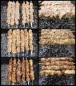 Stock Photo of Shish kebab preparation