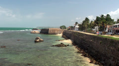 View of the Galle fort. Sri Lanka. Stock Footage