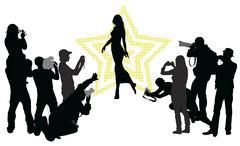Celebrity Stock Illustration