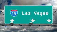 Las Vegas Interstate 15 Fwy Sign Time Lapse Stock Footage