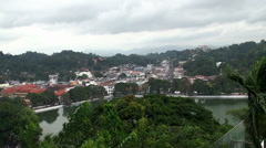 Bird's-eye view of the Kandy city centre. Sri Lanka. Stock Footage