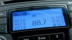 Car radio display changing channel HD 1525 Stock Footage