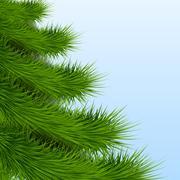 Background Christmas tree spruce - stock illustration